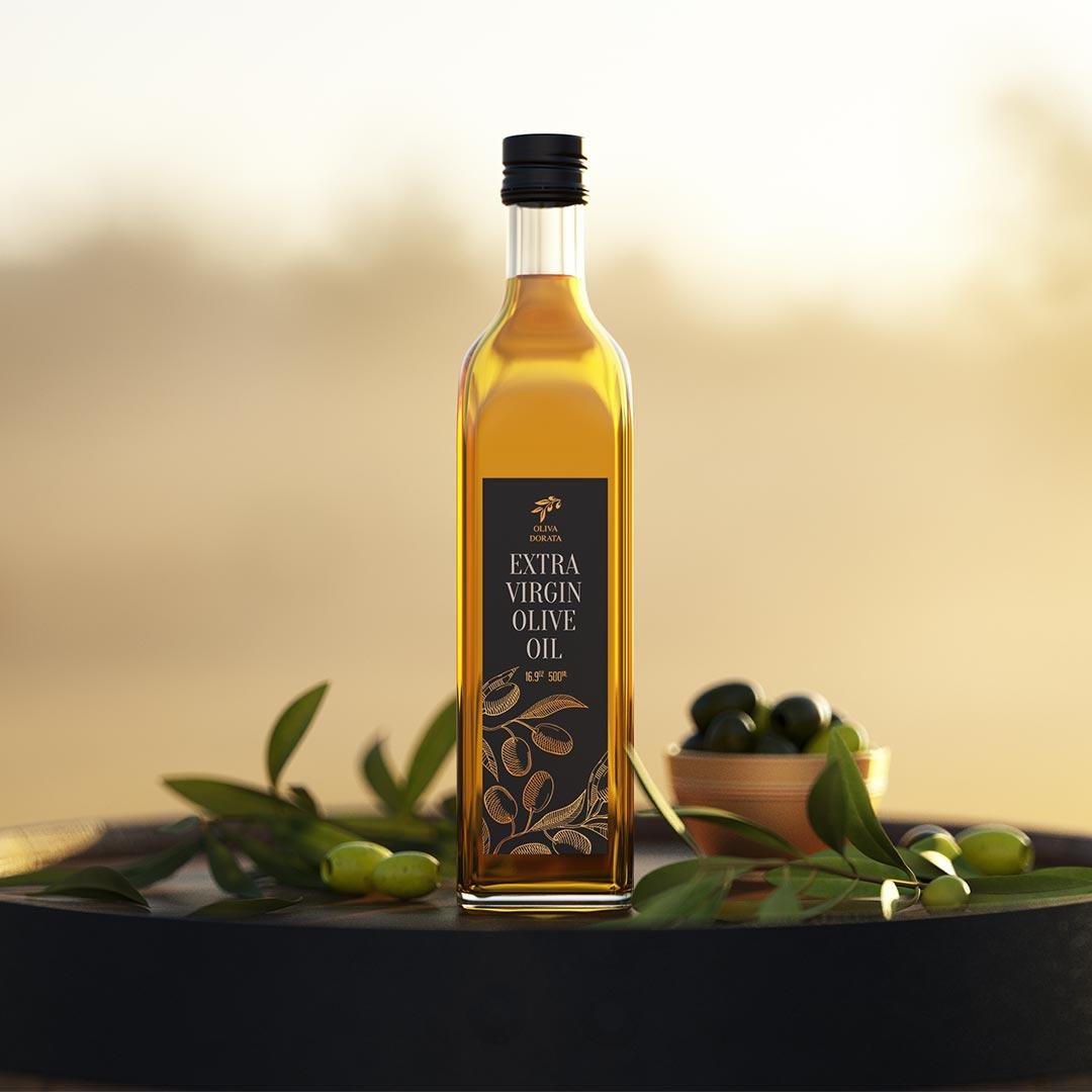 Оливковое масло OLIVA DORATA. Этикетка.