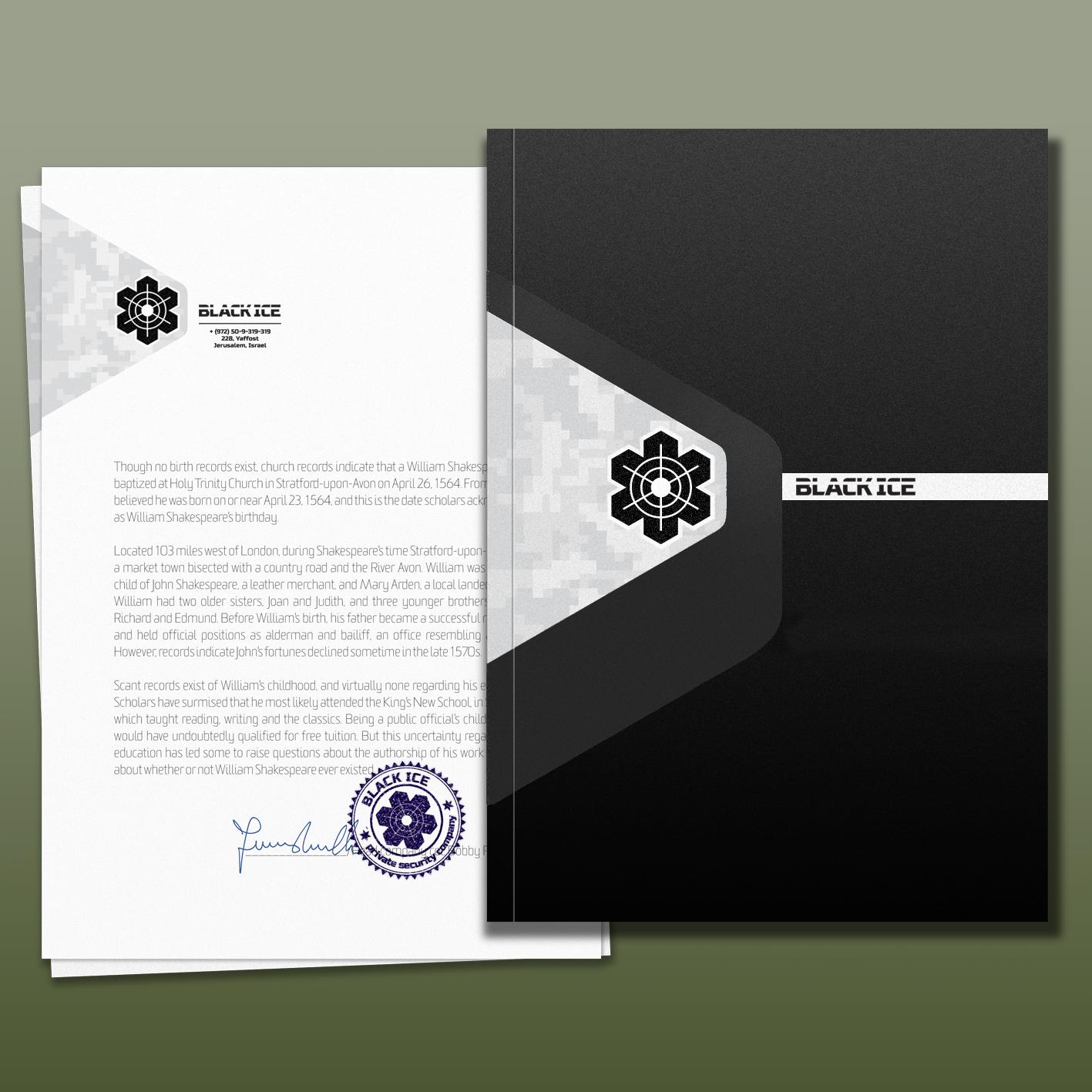 """Логотип + Фирменный стиль для компании """"BLACK ICE"""" фото f_9755718d591b625b.png"""