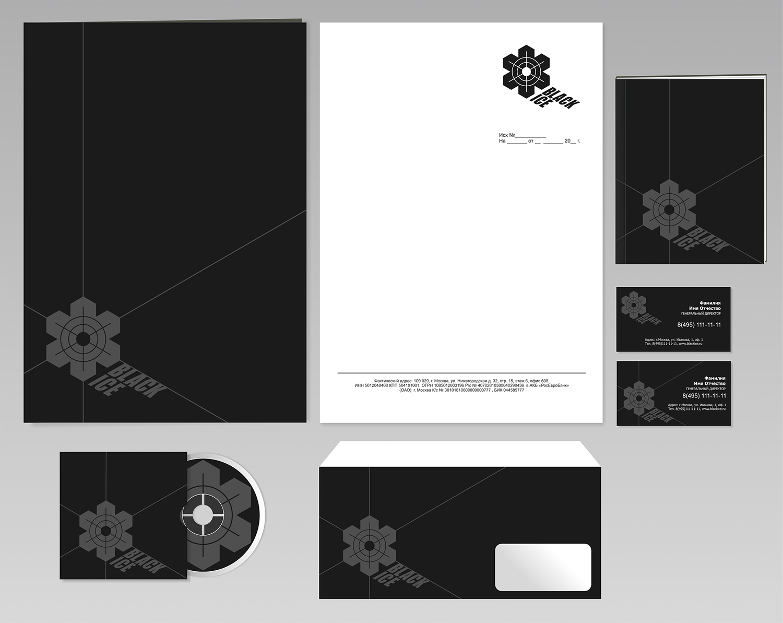 """Логотип + Фирменный стиль для компании """"BLACK ICE"""" фото f_0695715107807a91.jpg"""
