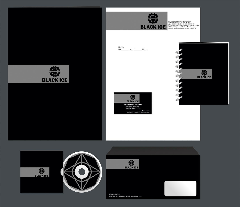"""Логотип + Фирменный стиль для компании """"BLACK ICE"""" фото f_55156ddd5b290a24.jpg"""