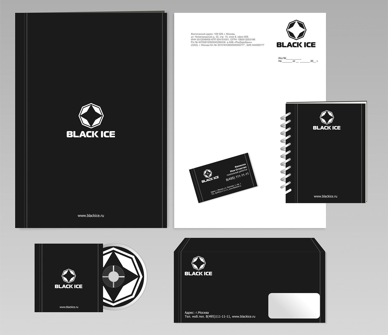 """Логотип + Фирменный стиль для компании """"BLACK ICE"""" фото f_77756f6671ed6f3c.jpg"""