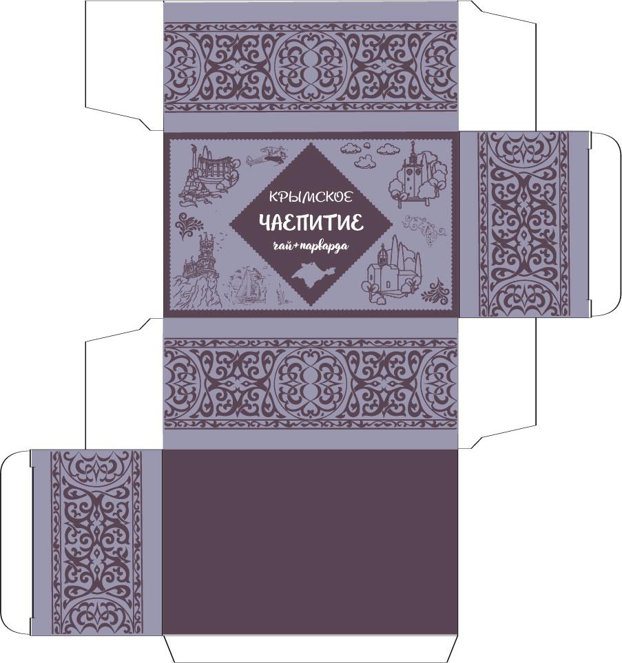 Дизайн коробки сувенирной  чай+парварда (подарочный набор) фото f_6675a46c92096b4c.jpg