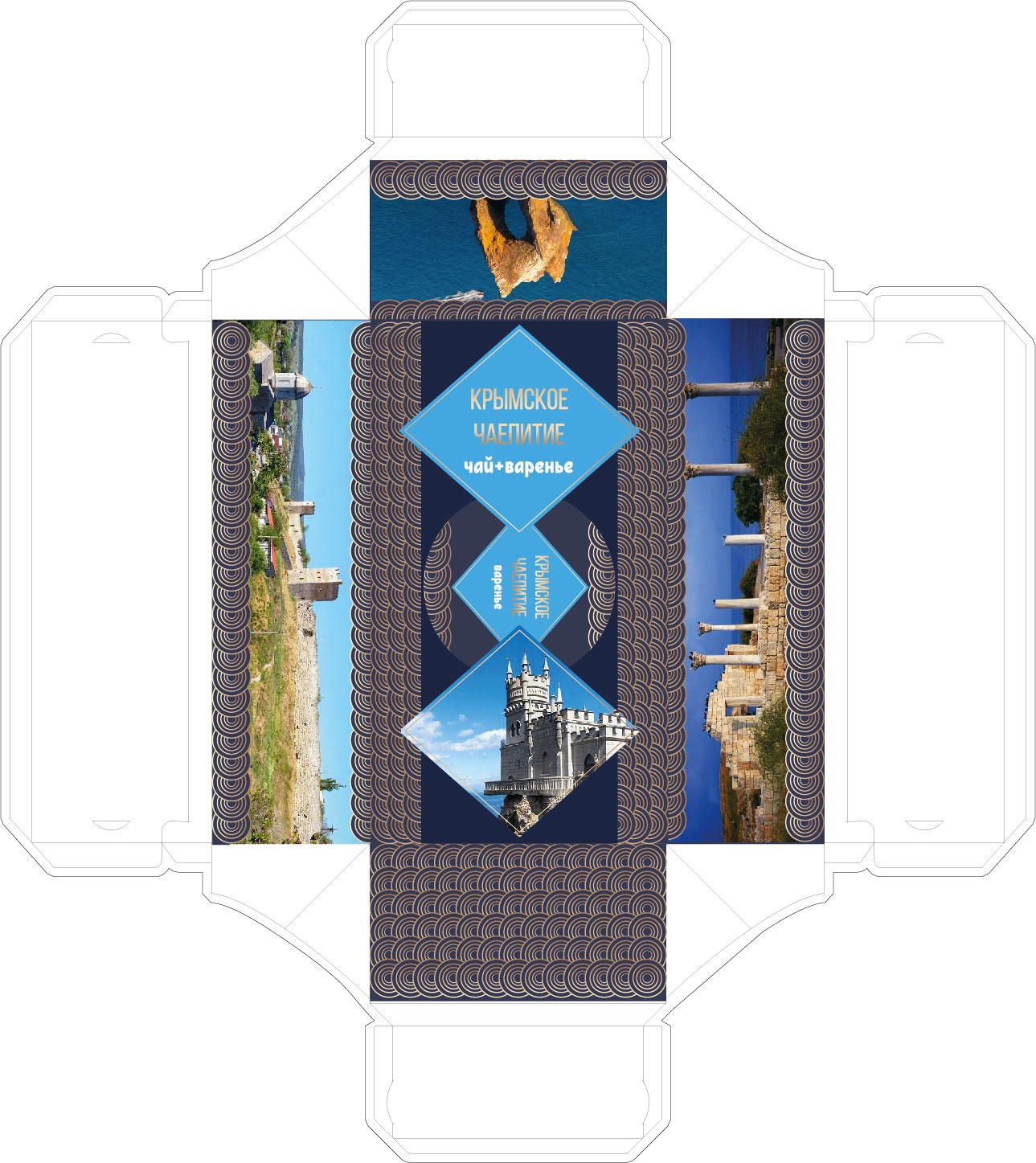 Дизайн подарочной-сувенирной коробки: с чаем и варением фото f_9595a53b911ba3d7.jpg