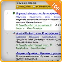 Форекс (регион Санкт-Петербург) топ-1