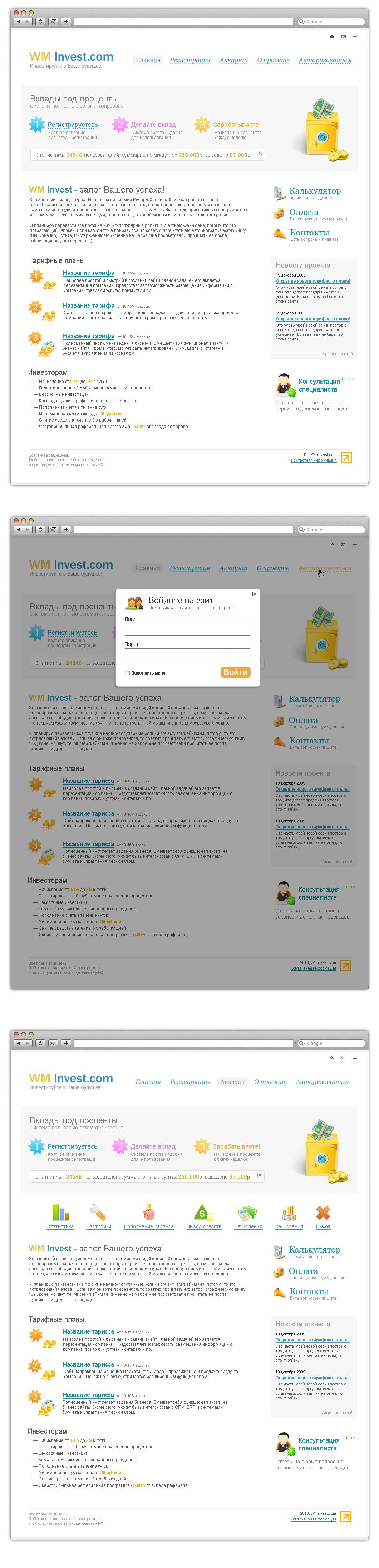 WM Invest.ru — Инвестиционный проект