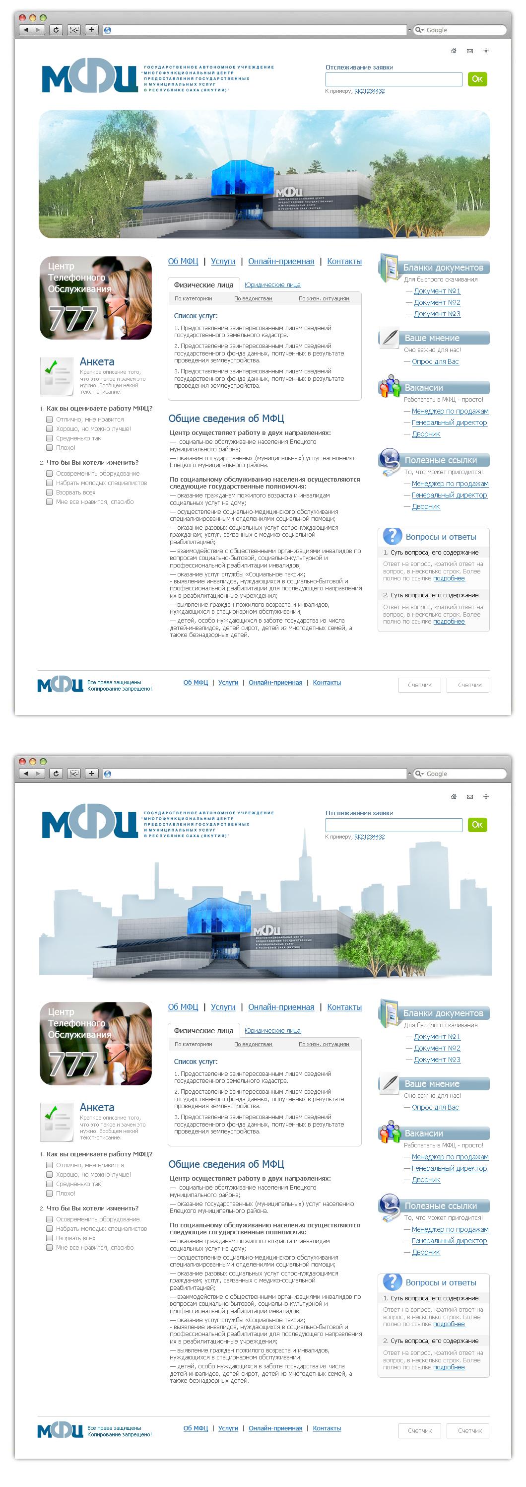 МФЦ (2 варианта) — госструктура