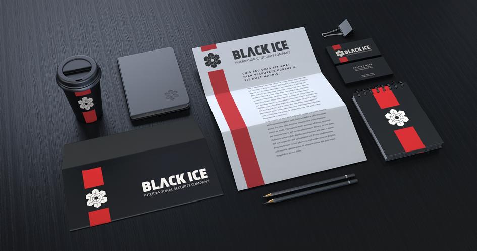"Логотип + Фирменный стиль для компании ""BLACK ICE"" фото f_075571477974156c.png"