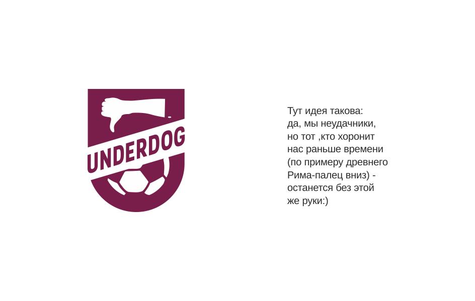 Футбольный клуб UNDERDOG - разработать фирстиль и бренд-бук фото f_8905cb189a3d9425.png