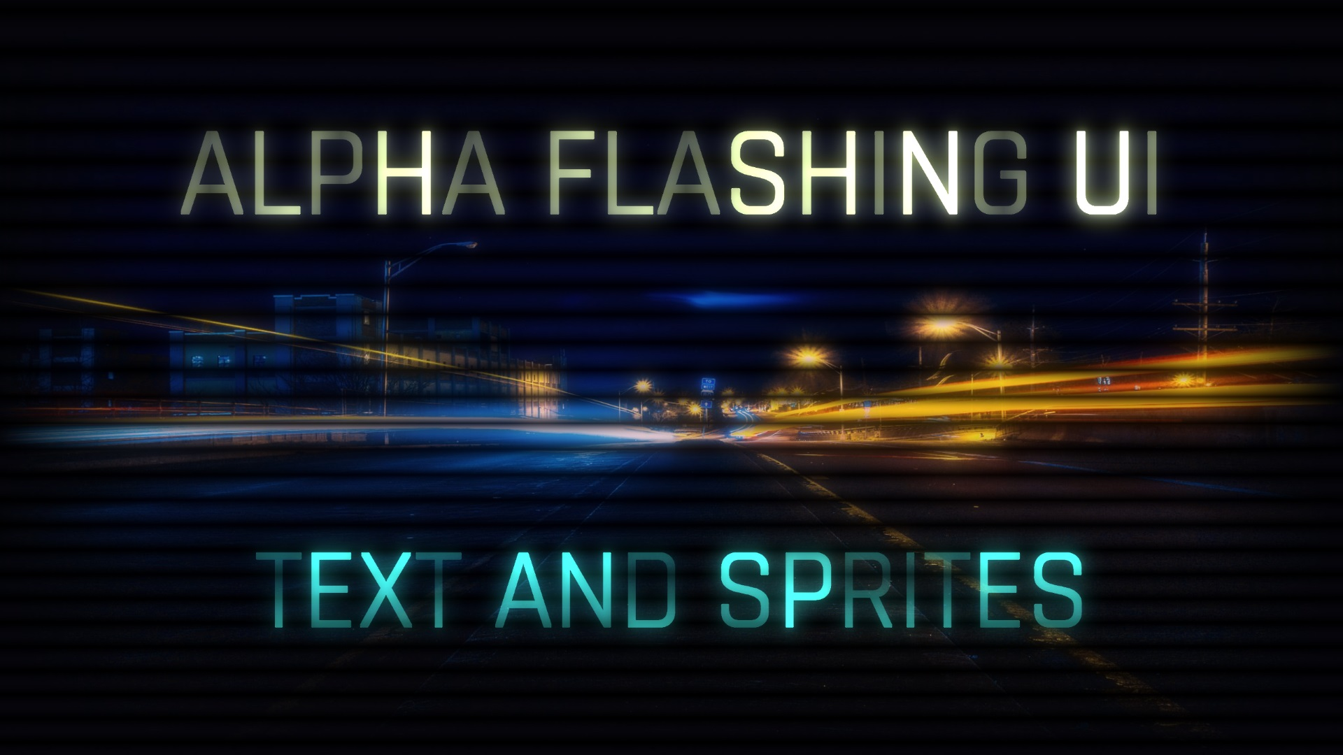 Alpha Flashing UI