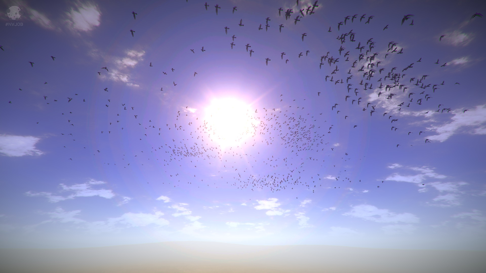 #NVJOB Simple Boids (Flocks of Birds, Fish and Insects). Flocking Simulation.