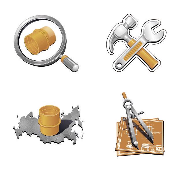 Иконки для сайта  (CorelDraw)