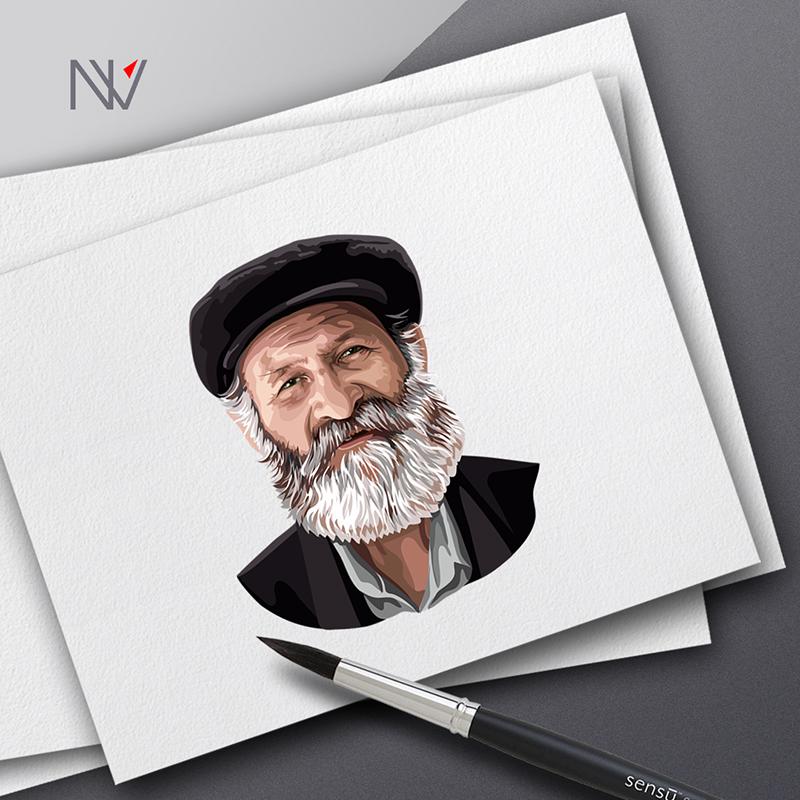 Портрет с фото (векторный)