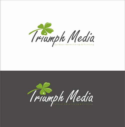 Разработка логотипа  TRIUMPH MEDIA с изображением клевера фото f_5071efd194367.jpg