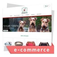 Дизайн интернет магазина по продаже товаров для домашних животных