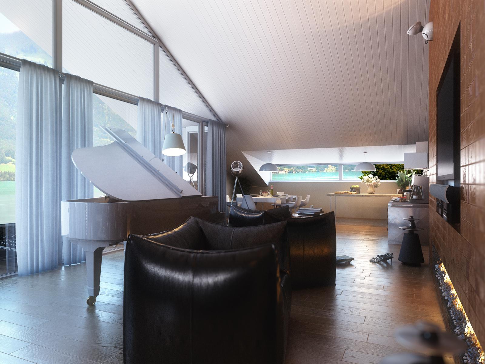 Интерьер дома в Швейцарии