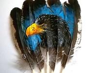 живопись на перьях
