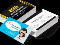 Разработка дизайна двусторонней или односторонней визитки