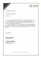 ИТ аутсорсер Zion Tech Group, рекомендательное письмо