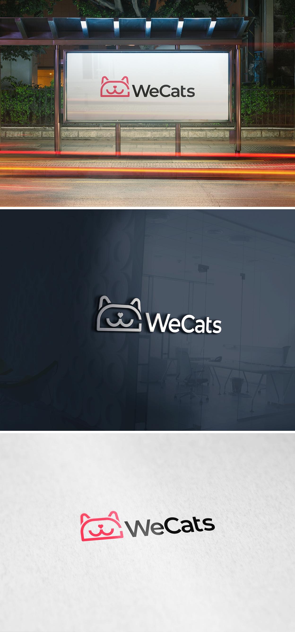 Создание логотипа WeCats фото f_1945f184569c099f.jpg