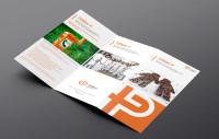 """Буклет для компании """"+P"""" на основе моего логотипа, занявшего 1-е место в конкурсе."""