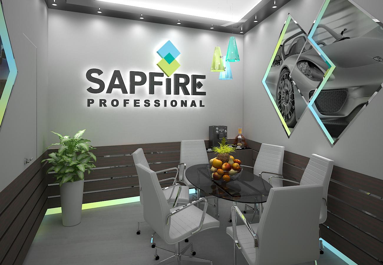 """Выставочный стенд """"Sapfire"""" интерьер"""