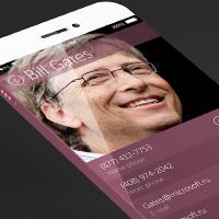 Концепт адресной книги iOS 7