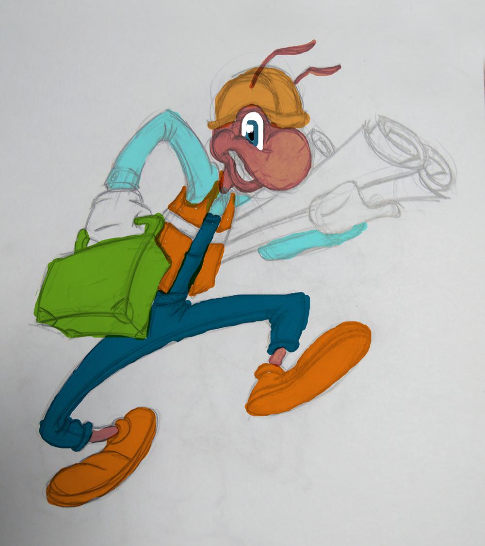 "Необходимо разработать дизайн персонажа ""Муравей"" для сайта  фото f_50357763b4b4e281.png"