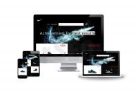 Дизайн легкого сайта в черно-белом стиле