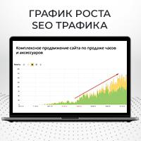 Комплексное продвижение сайта по продаже часов и аксессуаров