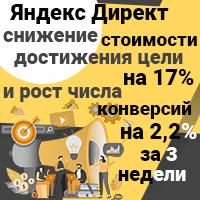 Снижение стоимости достижения цели на 17% и рост числа конверсий на 2,2% за 3 недели Директ
