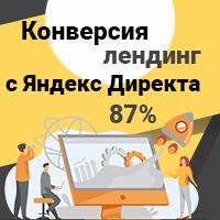 Конверсия лендинга с Директа 87%