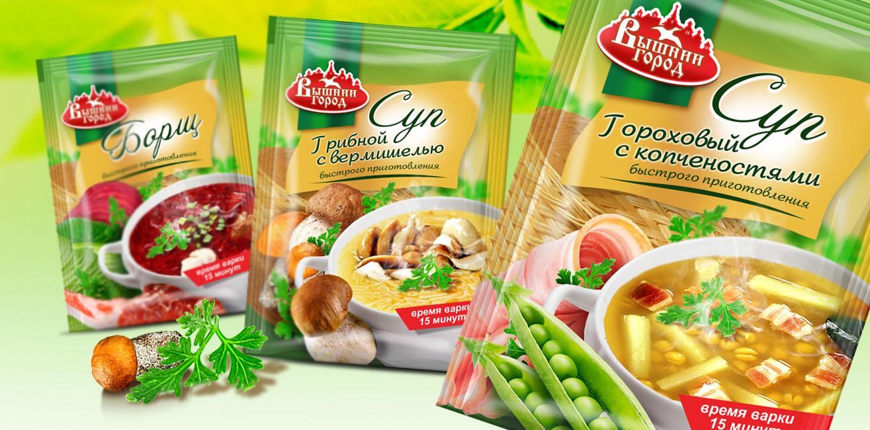 """ТМ """"Вышний город"""", серия супов"""