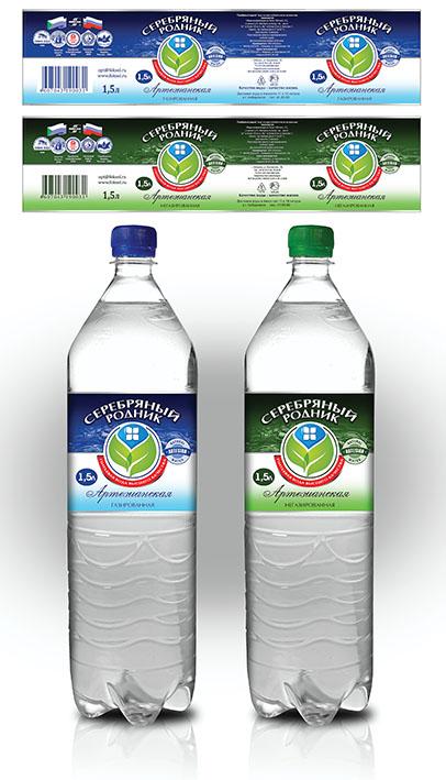 """вода """"Серебрянный родник"""""""