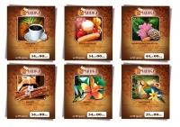 ценники для кофе «Чашка»