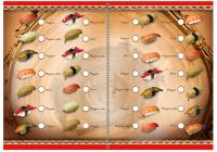Суши-бар «Silla» дизайн разворота меню