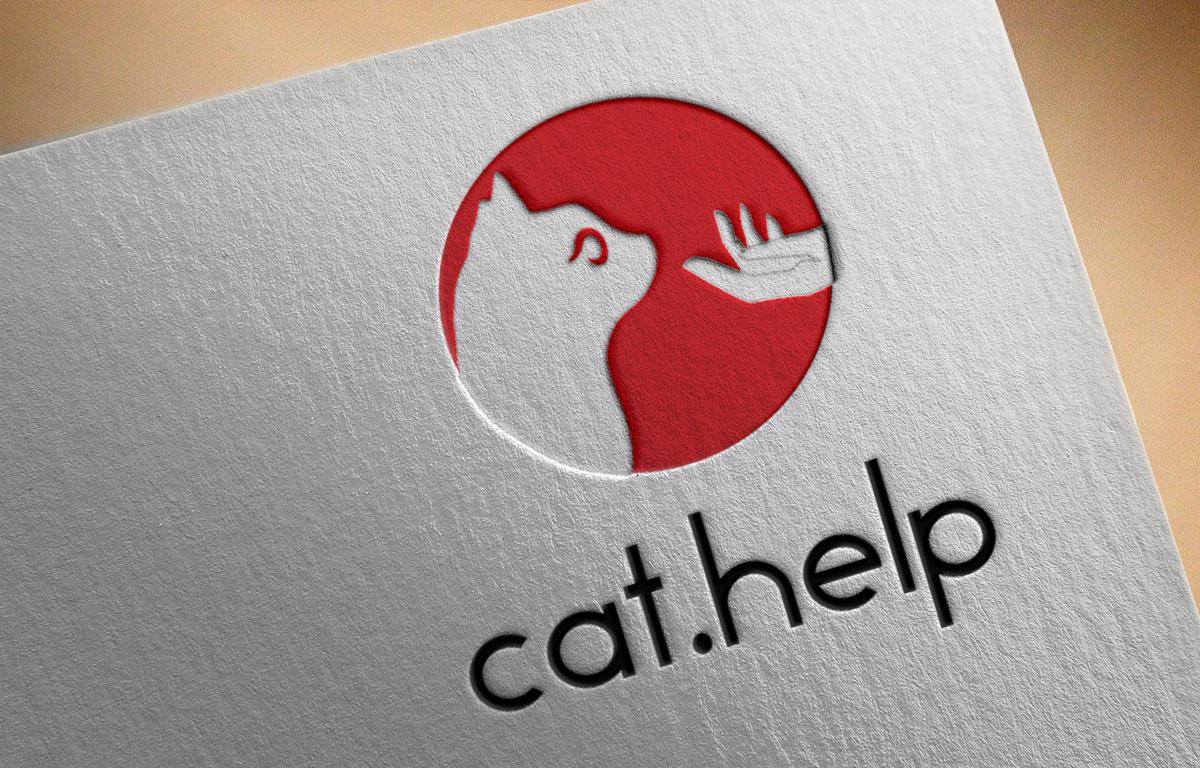 логотип для сайта и группы вк - cat.help фото f_16359da84416703e.jpg