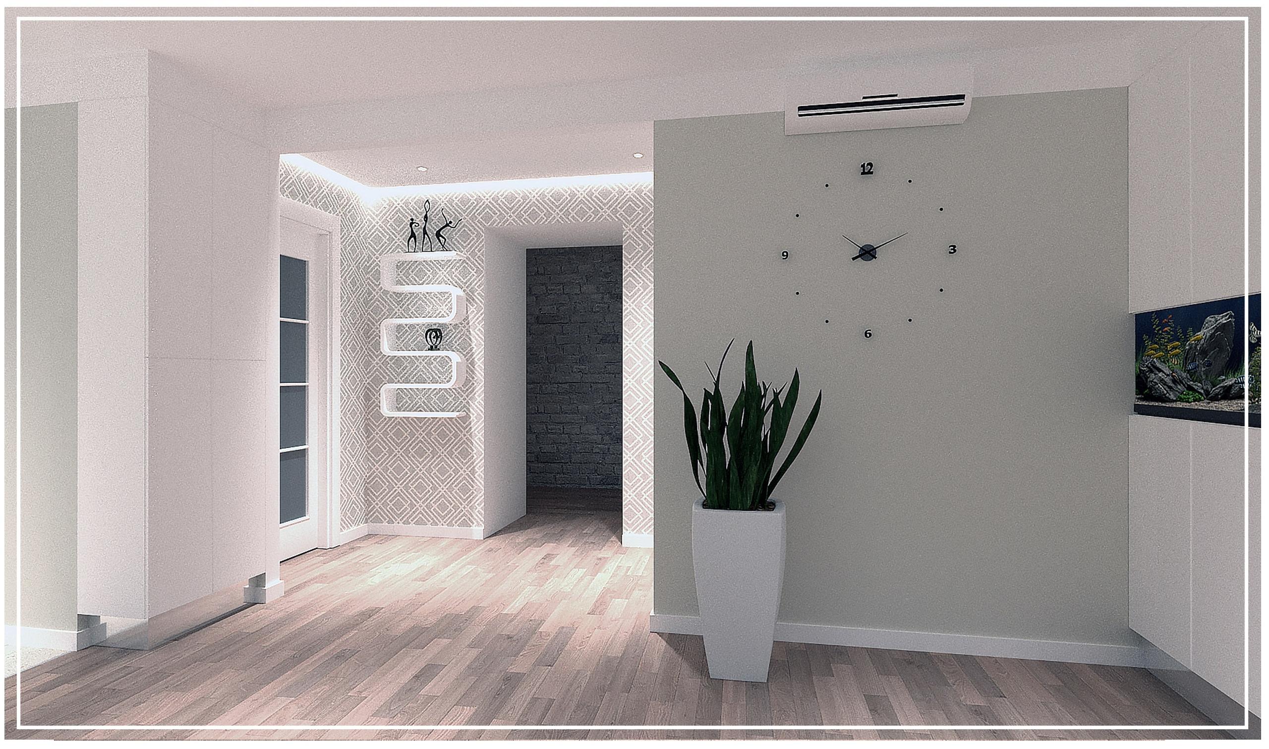 Дизайн проект интерьера кухни гостиной Тюмень