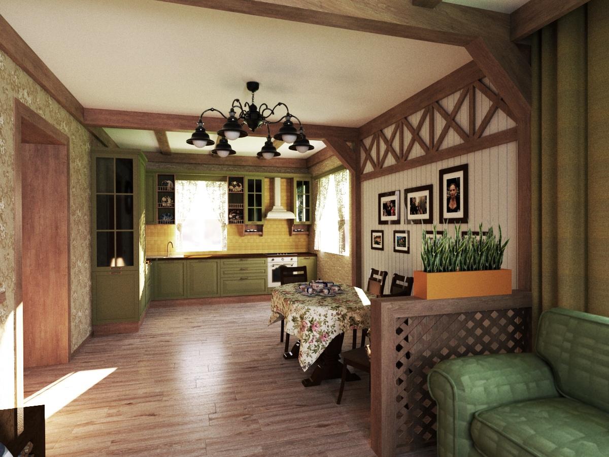 Дизайн проект интерьера кухня гостиная  Тюмень