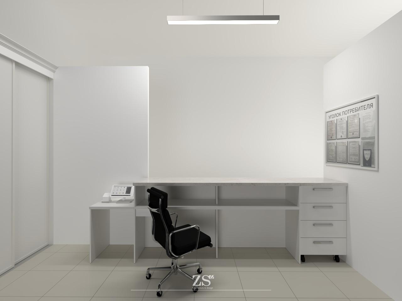 Проект приемного пункта химчистки для согласования с арендодателем и изготовления мебельных конструкций