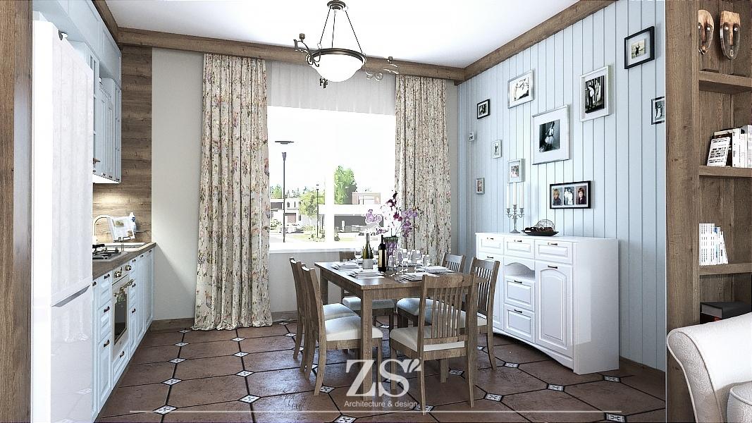 Дизайн проект интерьера кухни гостиной 35 м2  Луговое Тюмень
