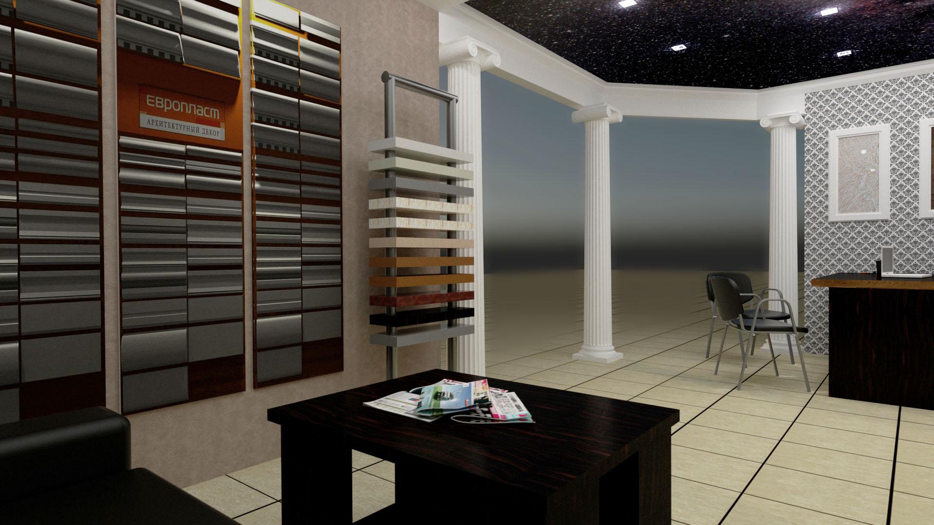 Дизайн проект интерьера офиса отделочной компании