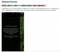SidebarOverlay - Библиотека для iOS