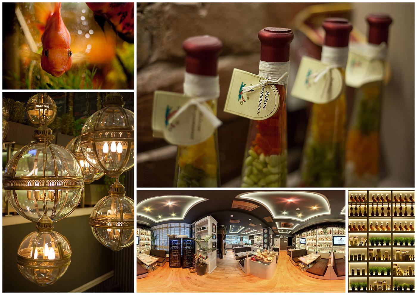 Панорама и Фотосъемка интерьеров ресторана Черетто, на Цветном Бульваре