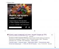 Рекламная кампания Саджи