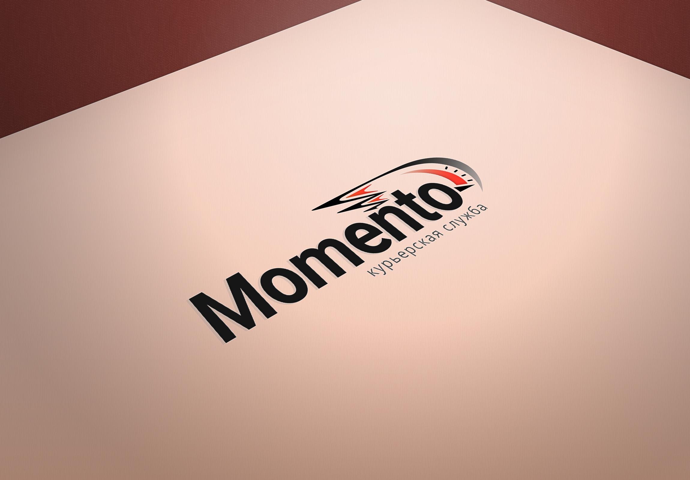 """Логотип курьерской службы """"MOMENTO"""""""