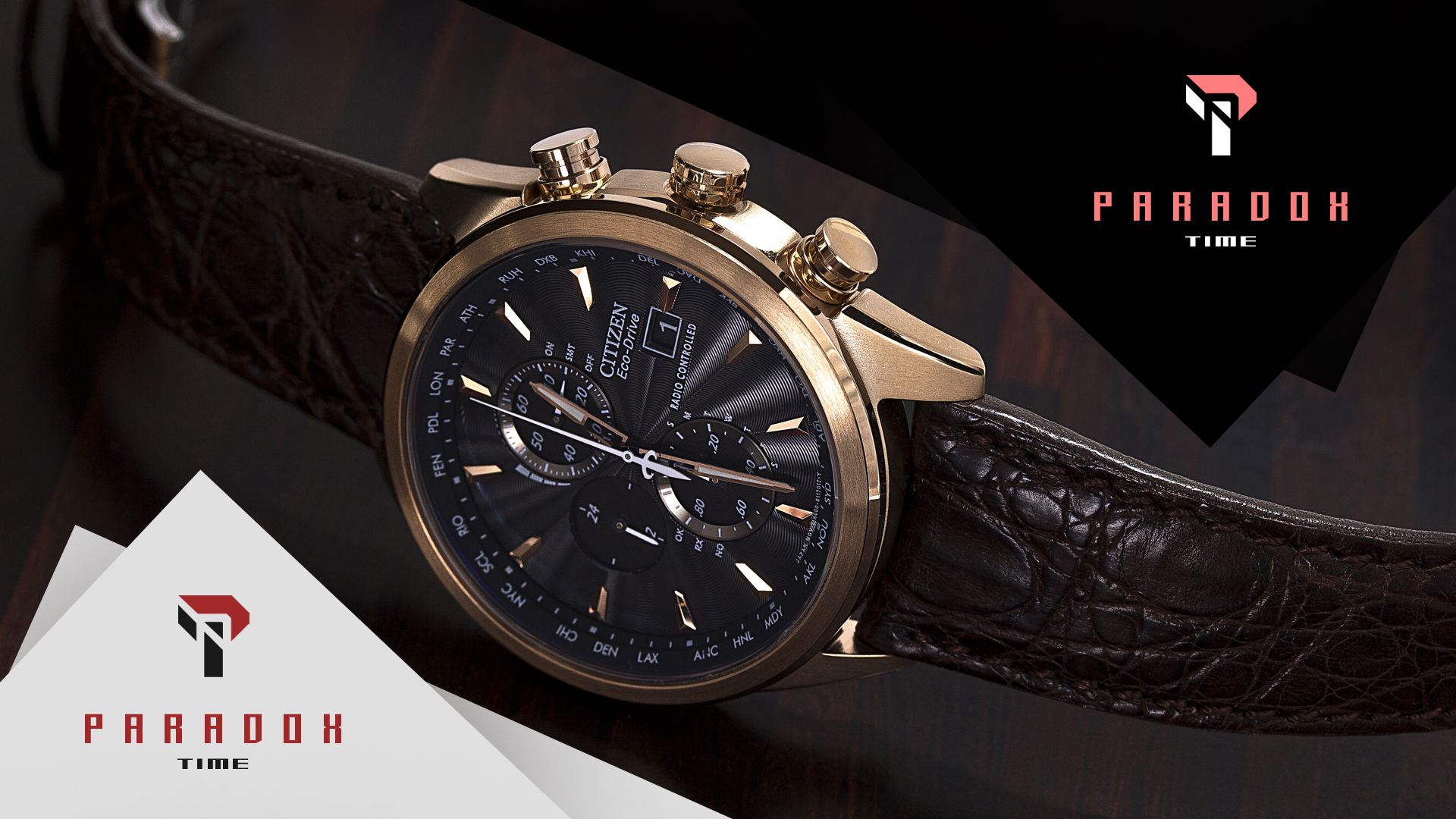 "Логотип компании наручных часов ""Paradox time"""