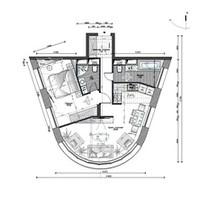 Планировка 2к. квартиры в Wellton Park