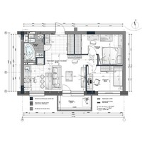 Перепланировка 2-х комнатной квартиры S 56 м2. г. Барнаул. 2015 г.