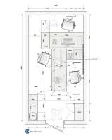 """Планировка офиса с разработкой мебели для филиала компании """"Содействие"""", г. Барнаул. 2015 г."""