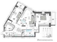 Перепланировка З-х комнатной квартиры S 107 м2. г. Москва.